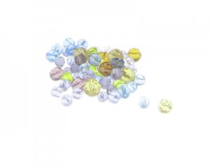 Approx. 1.5 - 2oz. x 5-8mm Color Faceted Glass Bead