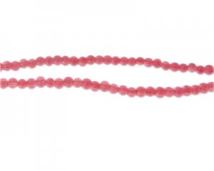 4mm Raspberry Jade-Style Glass Bead, approx. 105 beads