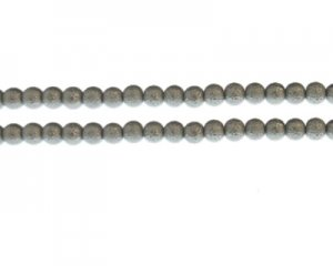 6mm Silver Rustic Glass Pearl Bead, approx. 71 beads