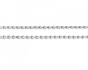 "4mm Antique Silver Link Chain, 40"" length"