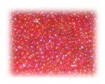 11/0 Strawberry Red Rainbow Luster Glass Seed Beads, 1 oz. bag