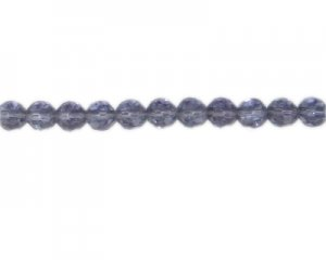 "8mm Light Purple Faceted Glass Bead, 13"" string"