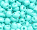 6/0 Aqua Opaque Glass Seed Bead, 1oz. bag
