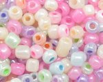 6/0 Pastel Color Ceylon Glass Seed Bead, 1oz. bag