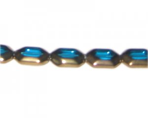 16 x 10mm Turquoise Vintage-Style Glass Bead, approx. 6 beads