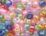 6/0 Pastel Color Transparent Glass Seed Bead, 1oz. bag