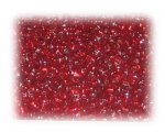 11/0 Red Silver-Lined Glass Seed Beads, 1 oz. bag