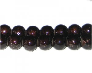 12mm Drizzled Copper Bead, approx. 18 beads