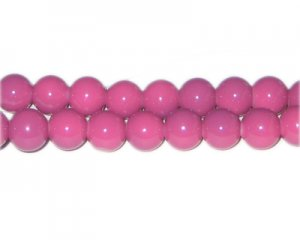 10mm Violet Team and School Glass Bead, approx. 22 beads