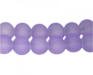 12mm Lilac Sea/Beach-Style Glass Bead, approx. 18 beads