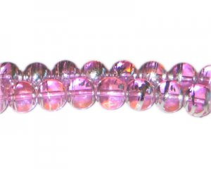 10mm Pink Perfect Abstract Glass Bead, approx. 22 beads