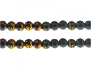 8mm Lightning Sky Abstract Glass Bead, 35 beads