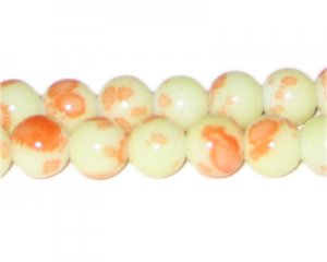 12mm Parfait Marble-Style Glass Bead, approx. 18 beads