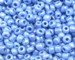 11/0 Sky Blue Ceylon Glass Seed Bead, 1oz. bag