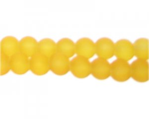 8mm Yellow Sea/Beach-Style Glass Bead, approx. 53 beads
