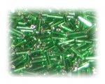 7 x 2mm Dark Green Bugle Bead, 1 oz. bag