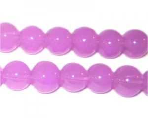 10mm Violet Jade-Style Glass Bead, approx. 21 beads