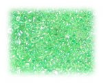 11/0 Soft Green Transparent Glass Seed Beads, 1 oz. bag
