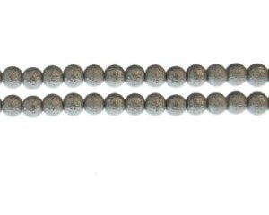 8mm Silver Rustic Glass Pearl Bead, approx. 56 beads