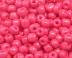 6/0 Strawberry Pink Opaque Glass Seed Bead, 1oz. bag