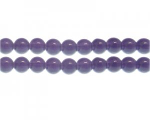 10mm Soft Purple Jade-Style Glass Bead, approx. 21 beads