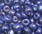 6/0 Dark Blue Opaque Glass Seed Bead, 1oz. bag
