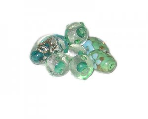 Approx. 1oz. Green Lampwork Bead Mix6