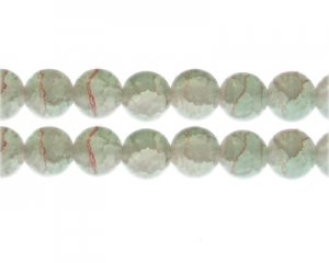12mm Labradorite Duo-Style Glass Bead, approx. 14 beads