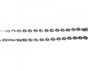 "2mm Antique Silver Link Chain, 40"" length"