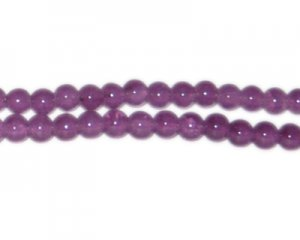 8mm Dark Amethyst-Style Glass Bead, approx. 53 beads