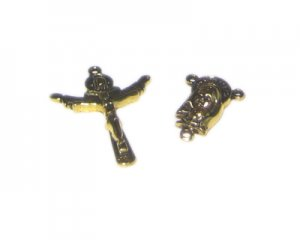 34 x 24mm Gold Metal Cross + Rosary Component Set