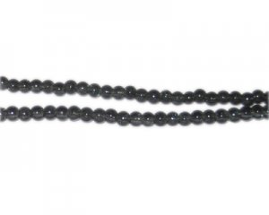 4mm Charcoal Crackle Glass Bead, approx. 105 beads
