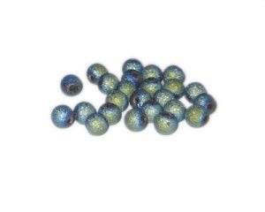 6mm Pale Blue Druzy-Style Electroplated Glass Bead, approx. 74-8