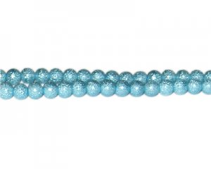 6mm Turquoise Rustic Glass Pearl Bead, approx. 71 beads