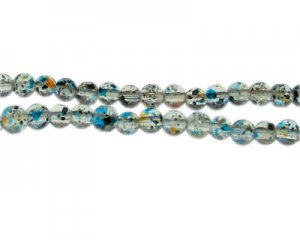 6mm Starry Night Crackle Season Glass Bead, approx. 71 beads