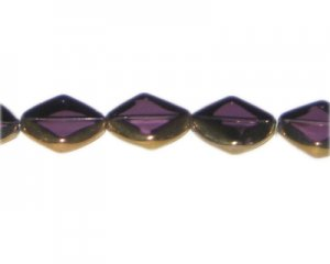 14mm Purple Vintage-Style Flat Round Glass Bead, approx. 5 beads