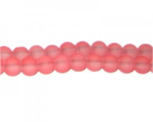 8mm Cerise Sea/Beach-Style Glass Bead, approx. 53 beads