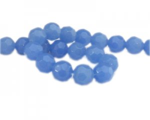"14mm Violet Semi-Opaque Faceted Glass Bead, 16"" string"