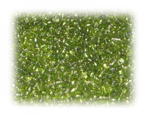 11/0 Apple Green Silver-Lined Glass Seed Beads, 1 oz. bag