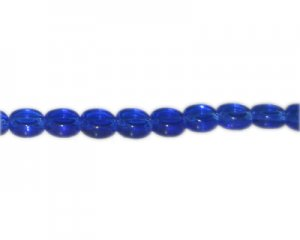 "10mm Royal Blue Faceted Flat Round Glass Bead, 12"" string"