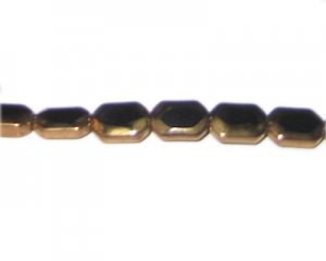 12 x 8mm Black Vintage-Style Glass Bead, approx. 8 beads