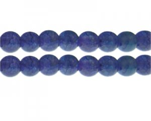 12mm Purple/Blue Duo-Style Glass Bead, approx. 14 beads