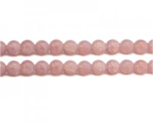 10mm Dusty Pink Gemstone-Style Glass Bead, approx. 18 beads