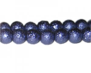 12mm Purple Rustic Glass Pearl Bead, approx. 17 beads