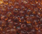 6/0 Golden Brown Transparent Glass Seed Bead, 1oz. bag