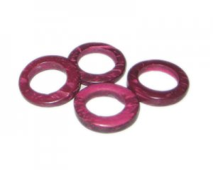 20mm Deep Fuchsia Dyed Coconut Circle, 15 circles