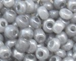 6/0 Silver Ceylon Glass Seed Bead, 1oz. bag