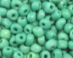 6/0 Grass Green Opaque Glass Seed Bead, 1oz. bag