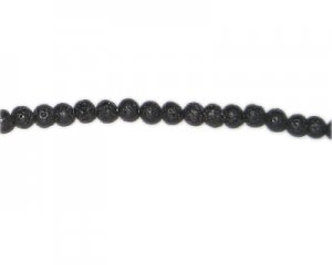 6mm Black Lava Gemstone Bead, approx. 31 beads