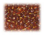 6/0 Golden Brown Silver-Lined Glass Seed Beads, 1 oz. bag